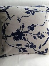 Cushion covers Made In Ada & Ina - Rosebird cotton linen, Navy