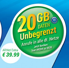 LYCAMOBILE EU ALLNET FLAT 20 GB  ✔ INTERNET ✔ Prepaid SIM Karte ✔ Vodafone ✔ Tri