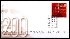 Inventor Blind writing Louis Braille. FDC. Cyprus 2009