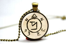 Supernatural Spell Angel Banishing Sigil Pendant Jewelry Glass Cabochon Necklace