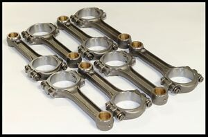 """SCAT SBC CHEVY 350 383 5.7"""" SCAT PRO-STOCK CONNECTING RODS I-BEAM BUSHED # 25700"""
