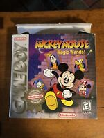 NINTENDO GAMEBOY - MICKEY MOUSE Magic Wands DISNEY Complete In Original Box