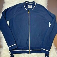 Converse One Star Jacket Sz. XL Vintage Full Zipper Blue w/ White - Shoelace Tie