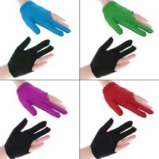 Lycra Fabric Snooker Cue Billiard Glove Pool Left Hand Three Finger Accessories