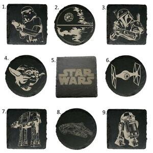 Star Wars Premium Natural Slate Coasters 18 Designs Great Gift Birthday