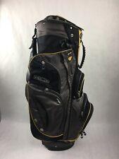 14 way w/ Putter Slot Black Sun Mountain MCB Cart Golf Bag, 9 pockets/ cooler