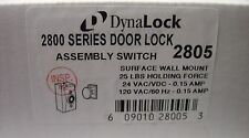 DynaLock - 2800 SERIES MAGNETIC DOOR LOCK ASSEMBLY SWITCH 2805 - 25LB FORCE NEW