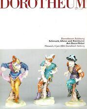 Dorotheum Schmuck, Uhren und Kleinkunst Art Deco Mobel Auction Catalog 2003