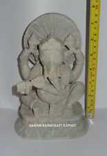 Marble Hindu Wisdom God Ganesha Statue Deities Sculpture Good Luck Gifts