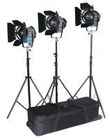 Pro 3* 650W Fresnel Tungsten Light Kit for  film studio as ARRI
