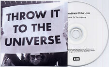 SOUNDTRACK OF OUR LIVES Throw It To The Universe UK 1-trk promo test CD + PR