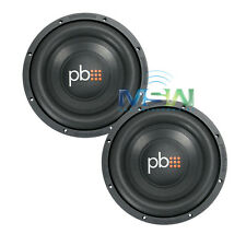 "(2) NEW PowerBass S-1004 10"" SINGLE 4-OHM CAR AUDIO SUBWOOFERS SUBS S1004 *PAIR*"