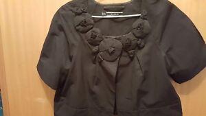 Stunning BASQUE ladies short jacket with rosette neckline (size 12)
