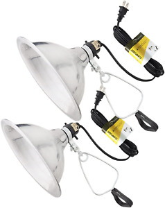 Simple Deluxe 2-Pack Clamp Lamp Light with 8.5 inch Aluminum Reflector 150W E26