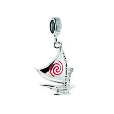 Chamilia 925 Silver & Enamel DISNEY MOANA Set Sail Boat Bead Charm