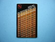 1979/80 NATIONAL HOCKEY LEAGUE NHL HOCKEY SCHEDULE & 1978/79 STATISTICS BOOKLET