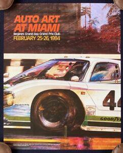 1984 Jaguar XJR-5 IMSA Auto Art Miami Poster Regine's Grand Prix Club BERGANDI