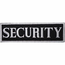 SECURITY Logo Iron On Embroidered Shirt Jacket Jeans Strip Badge Patch