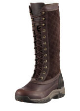 Ariat Boot Jena H2O Insulated Womens Lace Up Equestrian Quilted Green Brown 8.5B