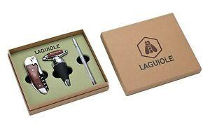 Laguiole 3-teiliges Wein Set  Messer, Flaschenverschluss & Weinthermometer NEU!