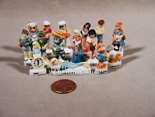 15 Fairy Tale Porcelain Miniatures French Feves Alice Peter Puss n' Boots & More