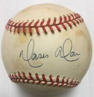 MOISES ALOU Signed 1997 Rawlings World Series Baseball Beckett BAS H52185 Marlin