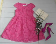 BNWT Simply Be Pink Organza-Like Overlayed Floral Embroidered Midi Dress UK12