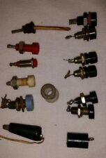 Lot of 10 Vintage Speaker Terminals Tube Radio Parts Various Sizes