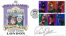 GB.2001 Buckingham Covers, First Day Cover, Punch & Judy Signed by Ronnie Barker