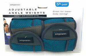 Empower 5 Lb. Pair Adjustable Ankle Weights Sculpt & Tone lower body MP-2949R