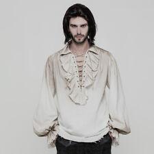Punk Rave Men's Pirate Steampunk Victorian Renaissance Medieval White Shirt Top