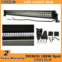 "39""inch 180W Flashing Ford LED Light Bar Spot Driving Fog Lamp Offroad SUV 38/40"