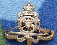 Badge- WW2 Royal Artillery Regiment Cap Badge - KC (BRASS, Org*) Long Slider