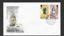 PITCAIRN ISLANDS POSTAL ISSUE FIRST DAY COVER 1976 AMERICAN BICENTENARY