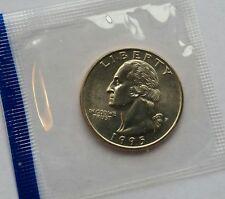 1995-P 25C WASHINGTON BU U.S. MINT QUARTER IN SEALED CELLO PACK WOW! GREAT PRICE