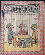 "Les Pieds-Nickelès in orig 1912 French Cartoon Comic Magazine ""L'Épatant"""