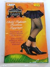 Black Child  Fishnet Footless Leggings  Witch Costumes Halloween Party Dance