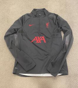 2020/21 Liverpool FC Nike Shield Strike Grey Drill Top Zip Soccer Jacket Medium