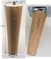 WOODEN PINE FURNITURE LEGS/FEET. CHOOSE MOUNTING PLATES CHAIR SETTEE M8. 8MM