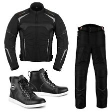 Men's Motorcycle Clothing Riding Suits Jacket Trousers Causal Leather Sneakers