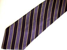 """Brooks Brothers Makers Mens Necktie Tie Purple Yellow Striped 59"""""""