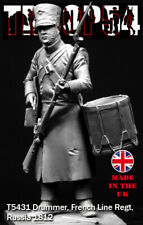 Troop54 French Line Infantry Drummer Russia 1812 54mm Unpainted kit