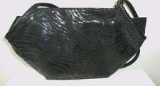 Vintage J Renee Black Faux Snakeskin Shoulder Bag 1980's  Quite Unique