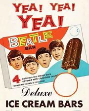 Vintage   BEATLES  advertising  ice cream   POSTER