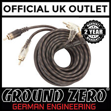 GroundZero 5M Metre Car Stereo Radio Amp Amplifier Phono RCA to RCA Cable Lead