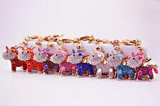 Unicorn Pegasus Crystal Diamante Rhinestne Bag Charms Handbag Keyrings Pendant