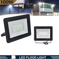 100W LED Flood Lights Outdoor Yard Garden Security Lamp Cool White 12000lm