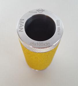 Schleifwalze / Schleifigel  60 x 130 x 30 mm von Edessö / Flury Systems - Neu -