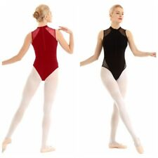 Womens Adult Sleeveless Ballet Leotard Gymnastics Dance Bodysuit Dancer Leotard