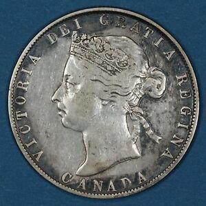 1901 Canada 50 Cents silver coin, F/Vf, KM# 6
